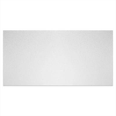 Stucco Pro 23.75 in. x 47.75 in. Vinyl Lay In White Ceiling Tile (80 sq. ft. /Case)