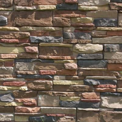 Easy Stack 5 in. x 20 in. Copper Hill No Mortar Concrete Ledge Stone Flat Panel 100 sq. ft. Crated