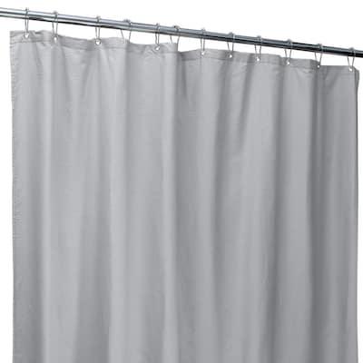 70 in. x 72 in. Silver Microfiber Soft Touch Seersucker Design Shower Curtain Liner