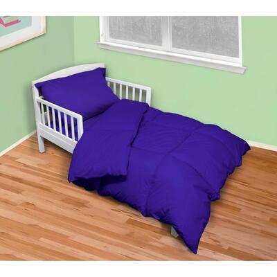 4-Piece Reflex Blue Twin Toddler Bed Set