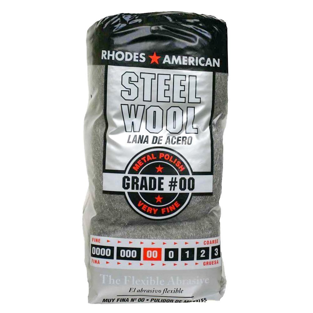 Fine Grade #00 Steel Wool (12-Pad)