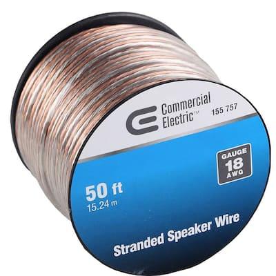 50 ft. 18-Gauge Stranded Speaker Wire