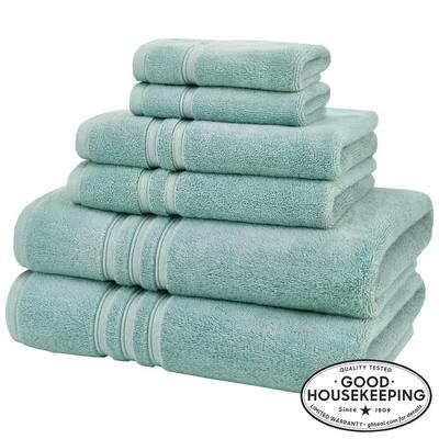 Turkish Cotton Ultra Soft 6-Piece Towel Set in Aqua