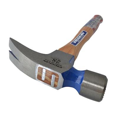 28 oz. Milled Face Framing Hammer, 18 in. Hardwood handle