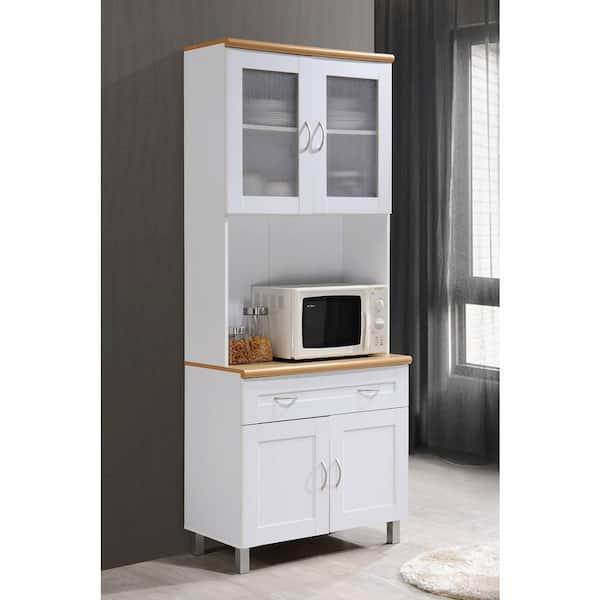 https www homedepot com p hodedah china cabinet white with microwave shelf hik92 white 303410336