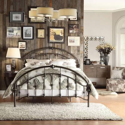 Miranda Bronzed Black Full Bed Frame