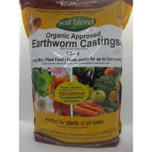 10 lbs. Bag Concentrated Earth Worm Castings with Myco (10 lbs. Makes 40 lbs.) Pure Organic