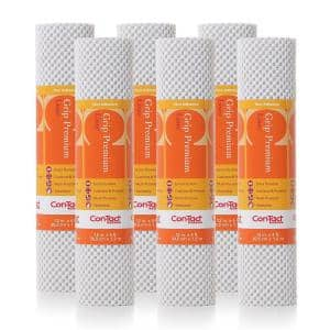 Grip Premium 12 in. x 4 ft. Bright White Non-Adhesive Thick Grip Drawer and Shelf Liner (6-Rolls)