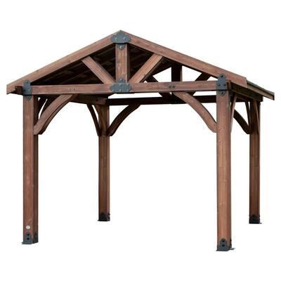 Sonora 12 ft. x 12 ft. Premium Cedar Gazebo with Smart Roof Steel