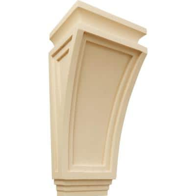 6 in. x 4-3/4 in. x 12 in. Maple Arts and Crafts Corbel