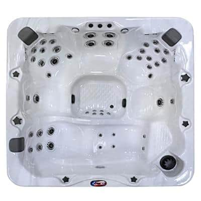 7-Person 56-Jet Premium Acrylic Lounger Hot Tub with Bluetooth Stereo System, Subwoofer and LED Waterfall