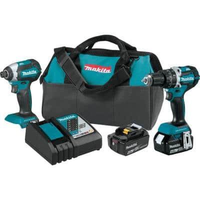 18-Volt LXT Lithium-Ion Brushless Cordless Hammer Drill and Impact Driver Combo Kit (2-Tool) w/ (2) 4Ah Batteries, Bag