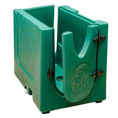 35 in. x 24.7 in. Pet Shower and Grooming Enclosure in Christmas Green