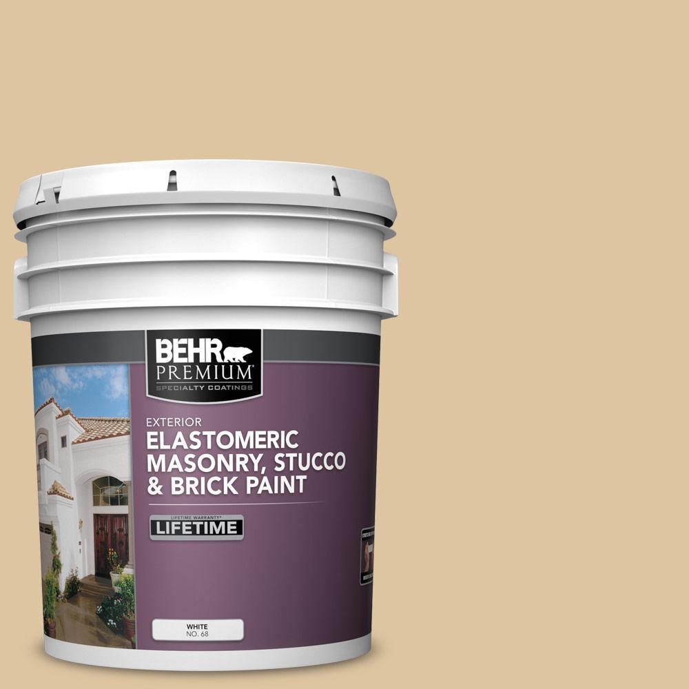 5 gal. #320E-3 Riviera Sand Elastomeric Masonry, Stucco and Brick Exterior Paint