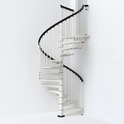SKY030 63 in. White Spiral Staircase Kit