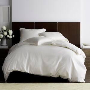 Legends Hotel Ivory TENCEL Lyocell Sateen King Duvet Cover
