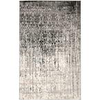 Retro Black/Grey 9 ft. x 12 ft. Area Rug