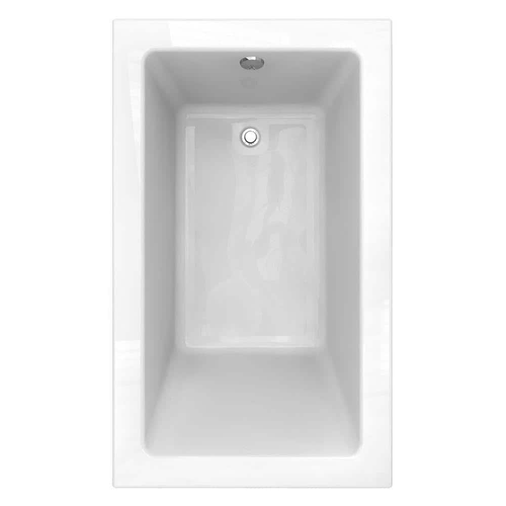 American Standard Studio 60 In X 36 In Reversible Drain Bathtub With Zero Edge Profile In White 2934002 D0 020 The Home Depot