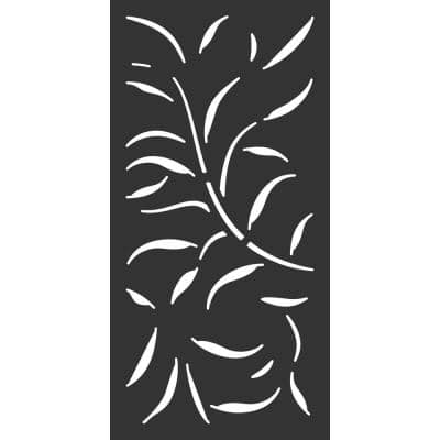 23.75 in. x 48 in. Black Meadow Hardwood Composite Decorative Wall Decor and Privacy Panel