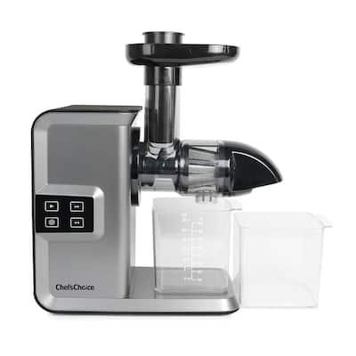Silver Horizontal Anti-Clog Masticating Juicer