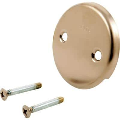 Classic Collection Overflow Plate & Screws in Champagne Bronze