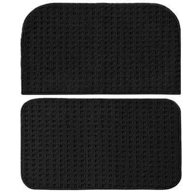 Herald Square Black 2 ft. x 2 ft. 2-Piece Rug Set