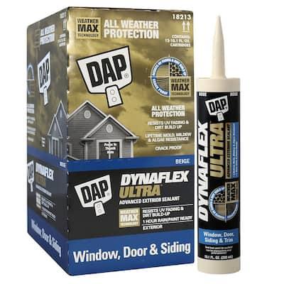 Dynaflex Ultra 10.1 oz. Beige Advanced Exterior Window, Door, and Siding Sealant (12-Pack)