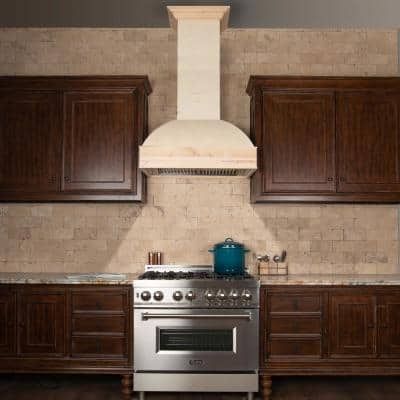 ZLINE 48 in. Unfinished Wooden Wall Mount Range Hood - Includes Remote Blower