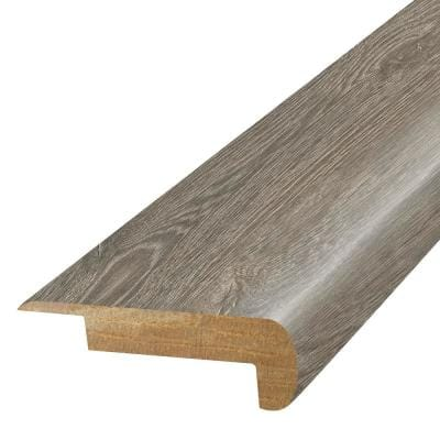 Flint Grey 3/4 in. T x 2-1/8 in. W x 78-3/4 in. L Laminate Stair Nose Molding