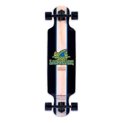 Island Style Retro Wooden Longboard with 7 in. Aluminum Trucks, Black