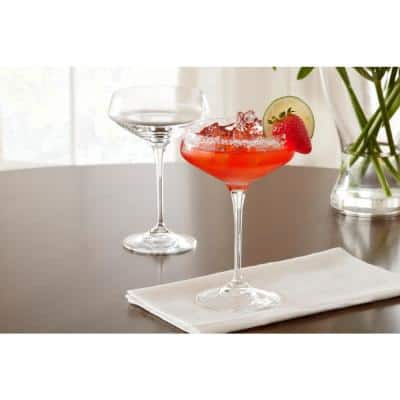 Genoa 11.25 oz. Lead-Free Crystal Coupe Cocktail Glasses (Set of 8)