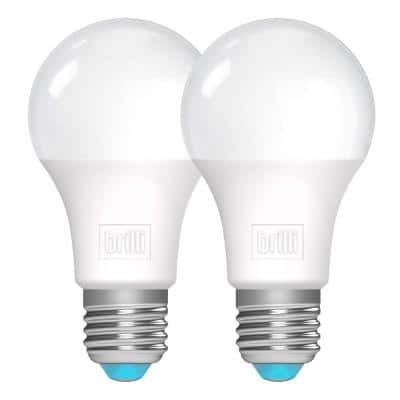 100-Watt Equivalent A21 Dimmable Brilli Charge-Up Energy Boosting LED Light Bulbs in White (2-Pack)