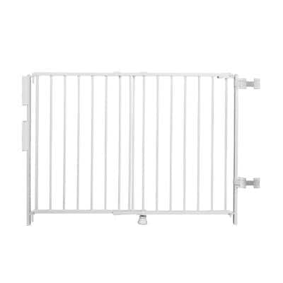 """35"""" Extra-Tall Top Of Stairs Metal Safety Gate"""