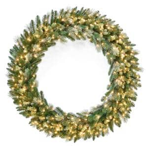 60 in. Carolina Pine Wreath with Clear Lights