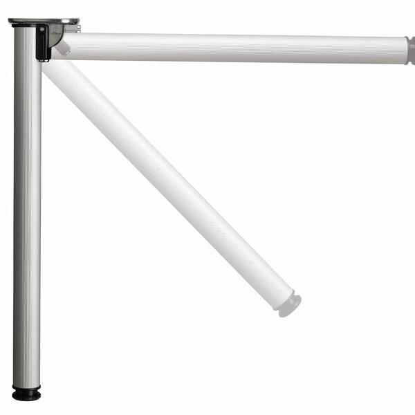 Richelieu Hardware 28 In 711 Mm Matte Black Adjustable Folding Table Leg 65671090 The Home Depot