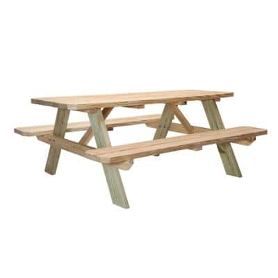 72 in. Deluxe Picnic Table With Treated Legs