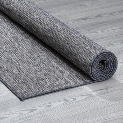 Sundance Collection Solid Gray 5 ft. 3 in. x 7 ft. Indoor/Outdoor Reversible Area Rug