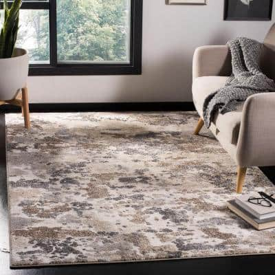 Spirit Taupe/Ivory 9 ft. x 12 ft. Area Rug