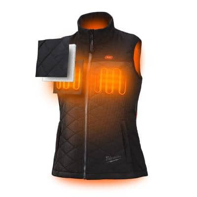Women's M12 12-Volt Lithium-Ion Cordless AXIS Heated Quilted Vest Kit with (1) 1.5Ah Battery and Charger
