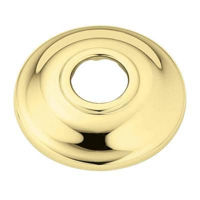 2.5 in. Shower Arm Flange in Polished Brass
