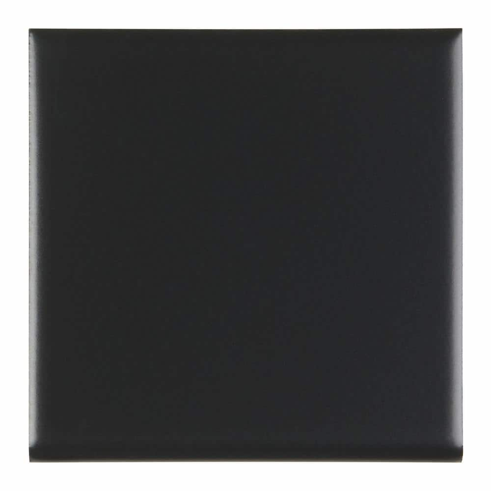 Daltile Semi Gloss Matte Black 4 1 4 In X 4 1 4 In Ceramic Surface Bullnose Wall Tile 0 125 Sq Ft Piece K711s44491p1 The Home Depot