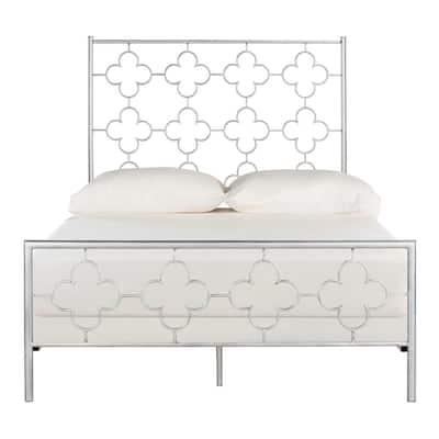 Morris Lattice Metal Antique Silver Full Bed