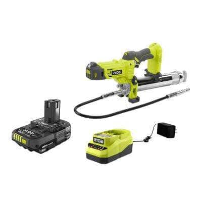 ONE+ 18V Cordless Grease Gun with 2.0 Ah Battery and Charger