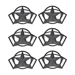 Decorative Steel Liberty Star Garden Hose Wall Rack (3-Pack)