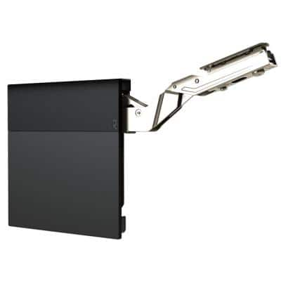 Black 107° Lift-Up Hinge Air System, Heavy-Duty Soft-Close Vertical Opening Hinge (1-Pair)