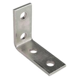 4-Hole 90 Degree Angle Strut Bracket - Silver Galvanized (Case of 10)