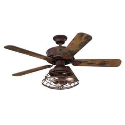 Barnett 48 in. LED Barnwood Ceiling Fan with Light Kit and Remote Control
