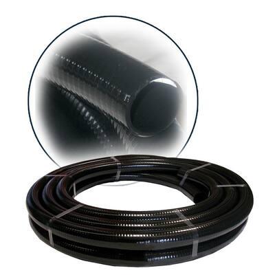 1-1/2 in. ID PVC Flex Hose x 50 ft. - Black