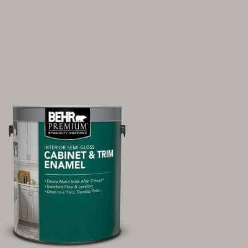 1 gal. #PPU24-11 Greige Semi-Gloss Enamel Interior Cabinet and Trim Paint