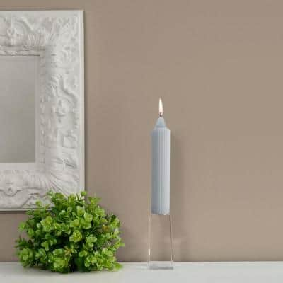 Grecian Collenette 7 in. Platinum Unscented Taper Candle (Set of 4)